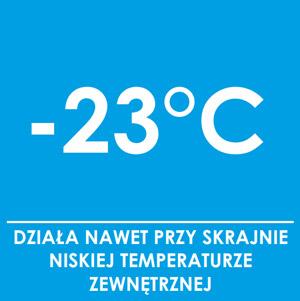 Działa przy skrajnie niskiej temperaturze